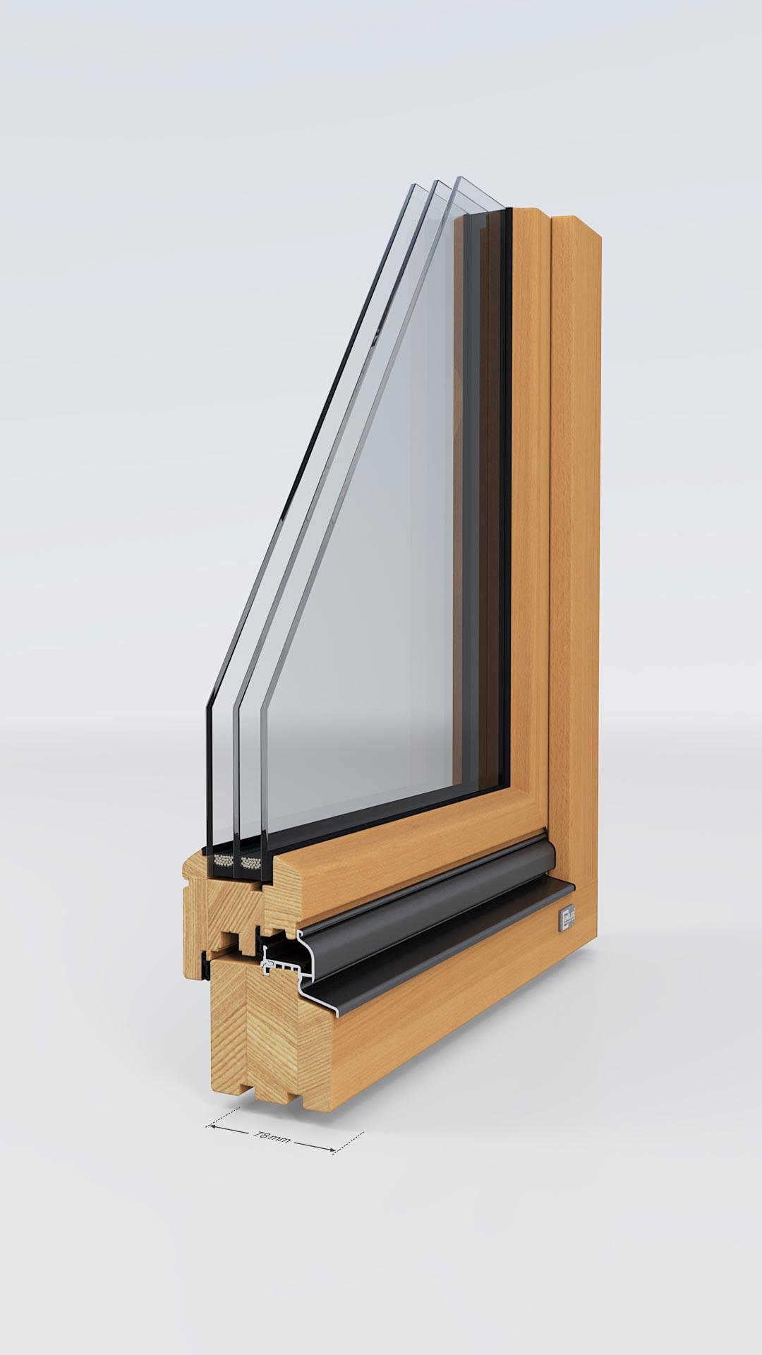 Holzfenster von Unilux